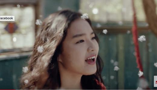 森永アイス「蜜と雪」CMの女優は誰?『粉雪』を歌うロングヘアの女性がかわいい